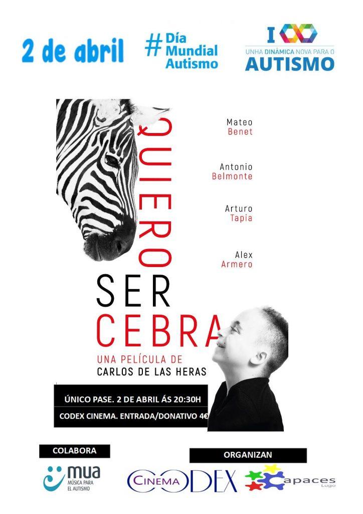 """Proyección de nuestro documental """"Quiero ser Cebra"""" en Lugo"""