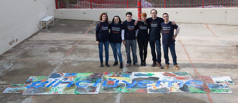 Taller de pintura en el Colegio Squema